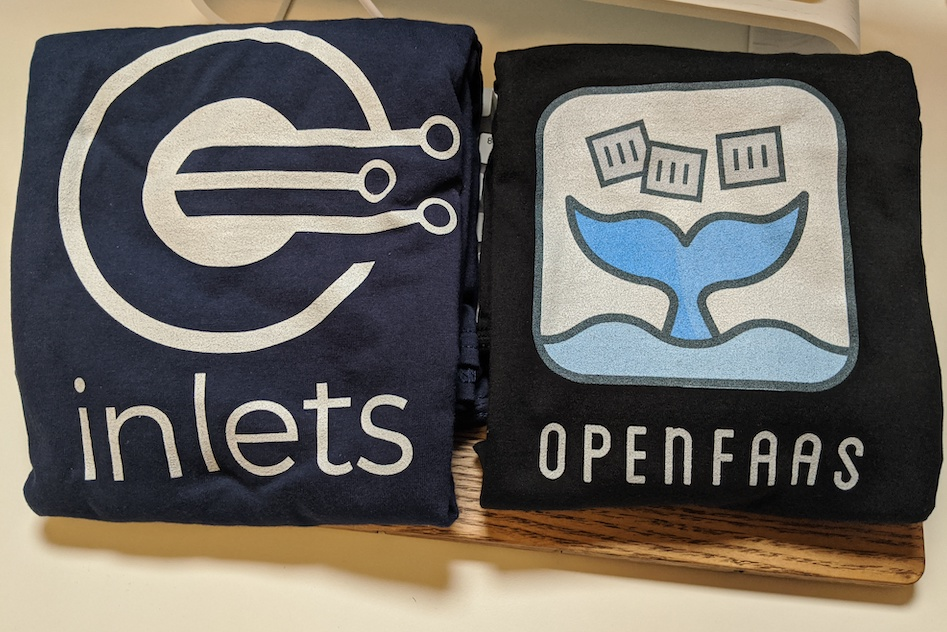 OpenFaaS and inlets t-shirts & hoodies